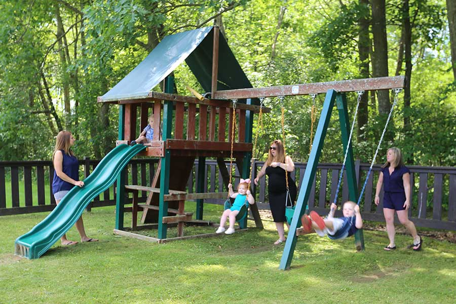 In addition, our lakeside community has playgrounds for your family and children