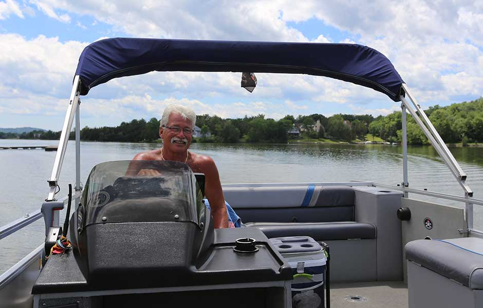 Boating is a one of many activities found in the lakeside community of Sleepy Hollow Lake