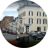 Image of the town of Athens which is a nearby town to sleepy hollow lake