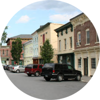 Image of the town of coxsackie which is a nearby town to sleepy hollow lake