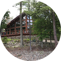 The center of the lakeside community is our main lodge right on Sleepy Hollow Lake