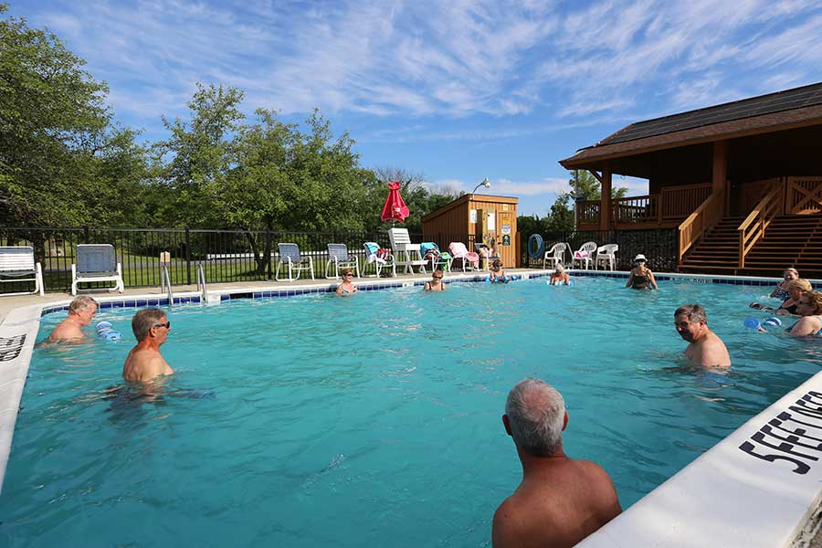 Sleepy Hollow Lake offers water exercise programs at the inground pool