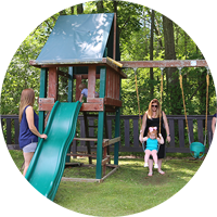Children playgrounds are part of the facilities & services offered at Sleepy Hollow Lake in Athens NY