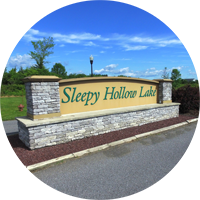 Entrance at Sleepy Hollow Lake private community